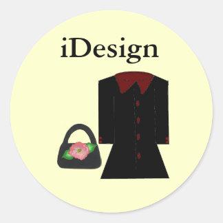 Moda de la diversión - iDesign Pegatina Redonda