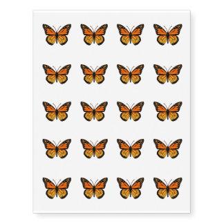 Moda de la mariposa de monarca tatuajes temporales