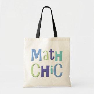 Moda de la matemáticas bolsa de mano