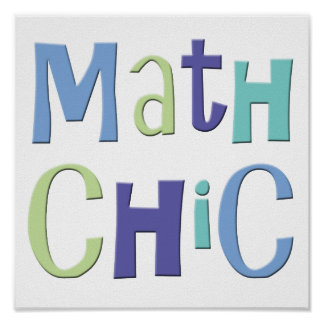Moda de la matemáticas póster