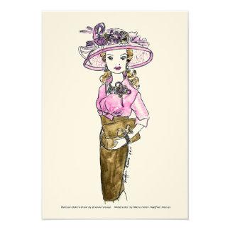Moda de la muñeca de Matisse - rosa del postre hel Comunicados Personalizados