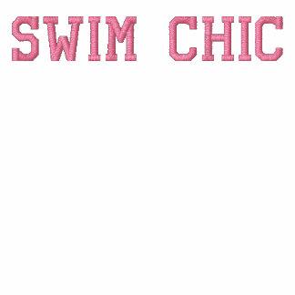 Moda de la nadada - cloro es mi perfume - atlética chaqueta bordada