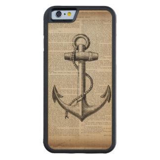 moda de la playa del mapa del océano del ancla del funda de iPhone 6 bumper arce