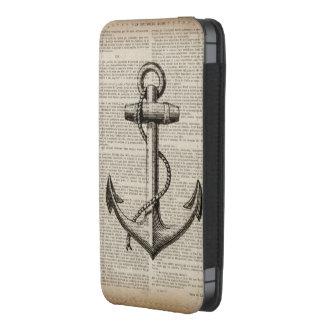 moda de la playa del mapa del océano del ancla del bolsillo para iPhone