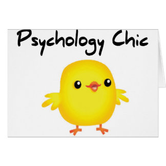 Moda de la psicología tarjeta de felicitación