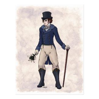Moda de la regencia - caballero #1 - postal