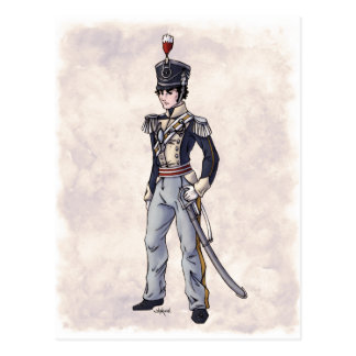 Moda de la regencia - caballero #4 - postal