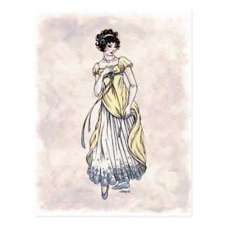Moda de la regencia - señora 1 - postal