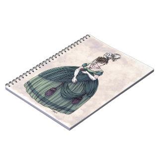 Moda de la regencia - señora #4 - cuaderno