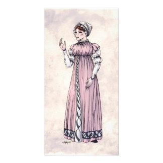 Moda de la regencia - señora #6 - Photocard w/Enve Tarjeta Fotográfica Personalizada