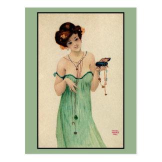 Moda de las señoras de Raphael Kirchner París 1910 Postal