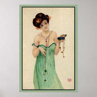 Moda de las señoras de Raphael Kirchner París 1910 Póster