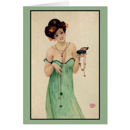Moda de las señoras de Raphael Kirchner París 1910 Tarjeta De Felicitación