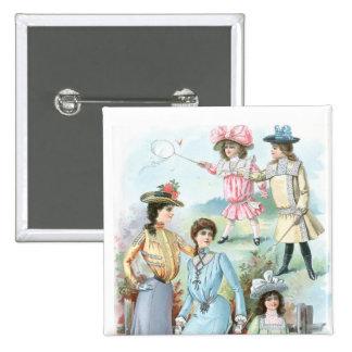 moda de los 1900s pin cuadrado