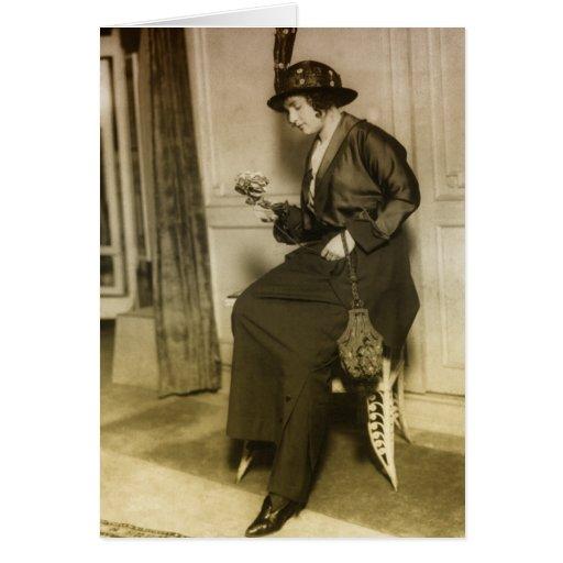 moda de los años 20 tarjeta de felicitación