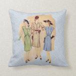 Moda de los años 40 del vintage almohada