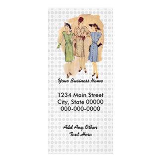 Moda de los años 40 del vintage diseño de tarjeta publicitaria