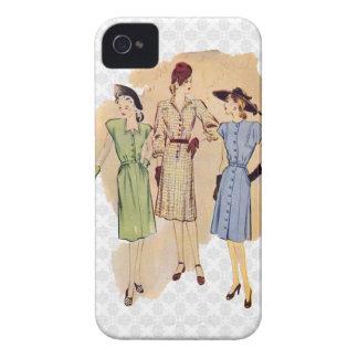 Moda de los años 40 del vintage funda para iPhone 4