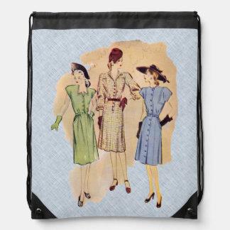Moda de los años 40 del vintage mochilas