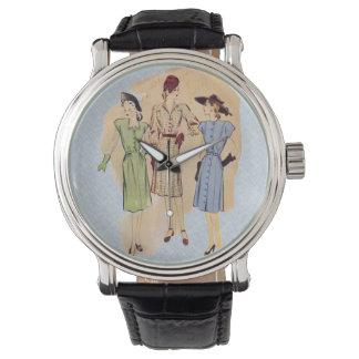 Moda de los años 40 del vintage relojes de mano