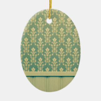 Moda de madera de la antigüedad de la pared del adorno ovalado de cerámica