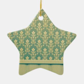 Moda de madera de la antigüedad de la pared del adorno de cerámica en forma de estrella