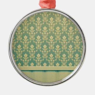 Moda de madera de la antigüedad de la pared del adorno redondo plateado