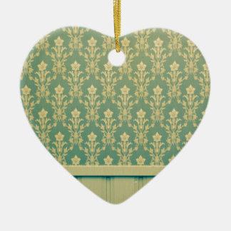Moda de madera de la antigüedad de la pared del adorno de cerámica en forma de corazón