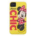 Moda de Minnie Carcasa Para iPhone 4 De Case-Mate