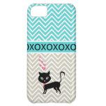 Moda de moda XOXO caja gris y azul de Chevron del  Funda Para iPhone 5C