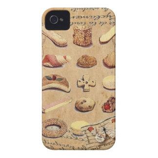 Moda de París de las galletas del vintage de la iPhone 4 Case-Mate Protector