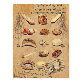 Moda de París de las galletas del vintage de la te Postales
