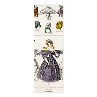 Moda de París de los 1800s del vintage - vestidos  Plantillas De Tarjetas De Visita