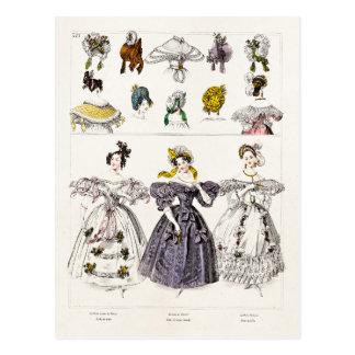 Moda de París de los 1800s del vintage - vestidos Postales