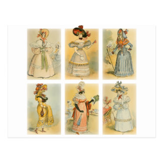 Moda de París del vintage 1 Postal