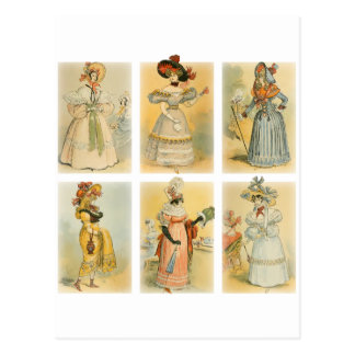 Moda de París del vintage 1 Tarjetas Postales