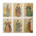 Moda de París del vintage - medieval Azulejo