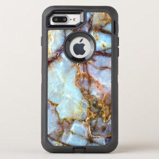 Moda de piedra de la textura el   del oro y funda OtterBox defender para iPhone 7 plus