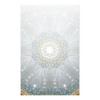 moda de plata elegante femenina del diamante de papelería de diseño