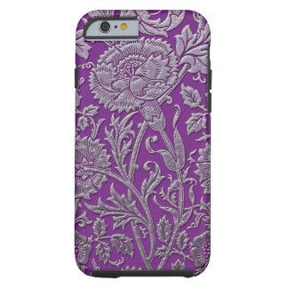 Moda de plata púrpura funda de iPhone 6 tough