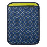 Moda del amarillo de los azules marinos del modelo funda para iPads