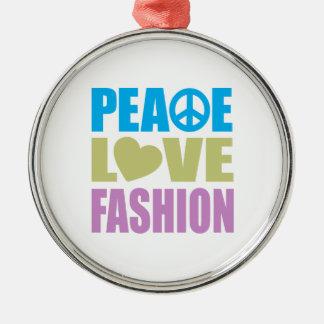 Moda del amor de la paz adorno de reyes