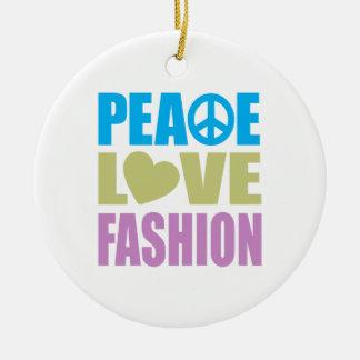 Moda del amor de la paz adornos