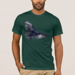 Moda del arte de la fauna del cuervo que vuela playera