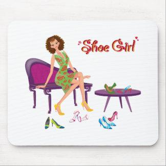 Moda del chica del zapato tapetes de ratones