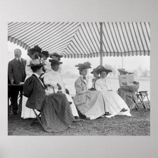Moda del club de golf, 1908 póster