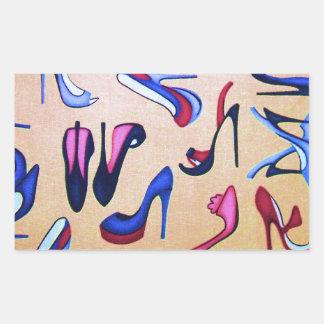 Moda del collage de las bombas de los zapatos de rectangular altavoz