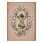 moda del corsé del rosa del Victorian del vintage Tarjeta Postal