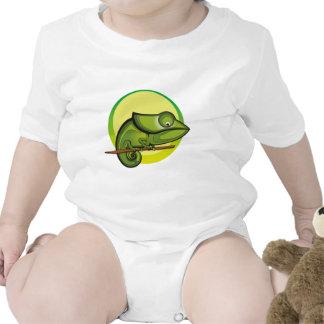 Moda del ejemplo del camaleón camiseta