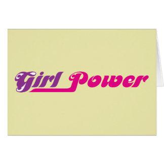 Moda del estallido del ~ del poder del chica tarjeta de felicitación